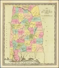 Alabama Map By David Hugh Burr