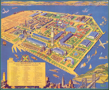 Pictorial Maps and San Francisco & Bay Area Map By Ruth Taylor White