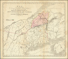New England, Maine and Canada Map By James Wyld / Harrison & Co.