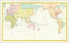World Map By James Cook