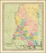 Mississippi Map By David Hugh Burr