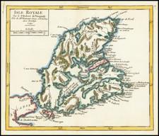 Eastern Canada Map By Gilles Robert de Vaugondy