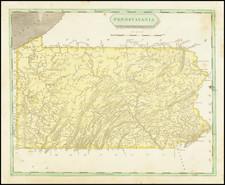 Pennsylvania Map By Aaron Arrowsmith  &  Lewis