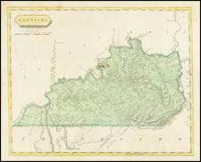 Kentucky Map By Aaron Arrowsmith  &  Lewis