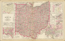 Ohio Map By O.W. Gray