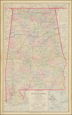 Alabama Map By O.W. Gray