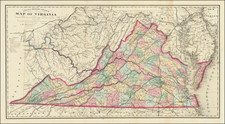 West Virginia and Virginia Map By Matthew Fontaine Maury - Charles L. Ludwig