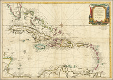 Florida and Caribbean Map By Louis Joseph Mondhare