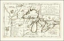Midwest, Michigan, Canada and Eastern Canada Map By Vincenzo Maria Coronelli