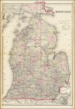 Michigan Map By R. Gray