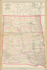 North Dakota and South Dakota Map By O.W. Gray