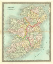 Ireland Map By Henry Teesdale