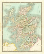 Scotland Map By Henry Teesdale