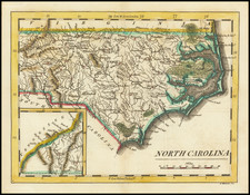 North Carolina Map By Mathew Carey