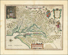 Nova Virginiae Tabula   By Willem Janszoon Blaeu