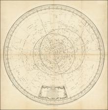 Celestial Maps Map By Jean Perny de Villeneuve