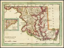 Maryland Map By Mathew Carey