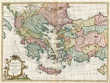 Europe, Greece, Turkey, Balearic Islands, Asia and Turkey & Asia Minor Map By John Blair