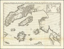 Polar Maps, Atlantic Ocean, Scandinavia and Canada Map By Nicolo Zeno