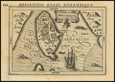 East Africa and African Islands, including Madagascar Map By Petrus Bertius
