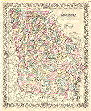 Georgia Map By Joseph Hutchins Colton