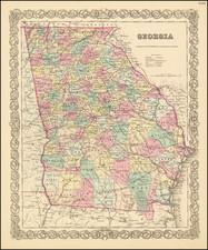 Georgia Map By Joseph Hutchins Colton