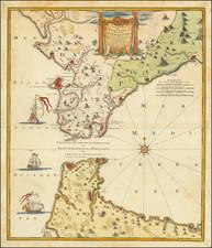 Spain and Gibraltar Map By Johann Baptist Homann