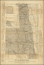 Minnesota, North Dakota and South Dakota Map By A.J. Harwood