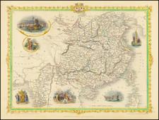 China and Southeast Asia Map By John Tallis