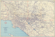 California and Los Angeles Map By Automobile Club of Southern California