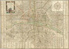 Paris Map By Louis Brion de la Tour