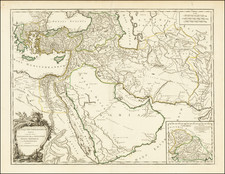 Middle East, Arabian Peninsula, Persia and Turkey & Asia Minor Map By Didier Robert de Vaugondy
