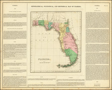 Geographical, Statistical, and Historical Map of Florida. By Henry Charles Carey  &  Isaac Lea