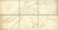 New England, Maine and Eastern Canada Map By Thomas Wright