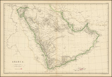 Arabian Peninsula Map By Blackie & Son