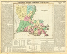 Louisiana Map By Henry Charles Carey  &  Isaac Lea