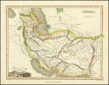 Persia Map By John Wyld