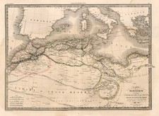 Europe, Mediterranean, Africa and North Africa Map By Alexandre Emile Lapie