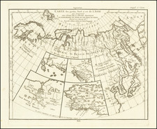 Alaska, Asia, Japan and Russia in Asia Map By Denis Diderot / Didier Robert de Vaugondy