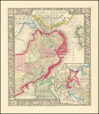 Plan of Boston By Samuel Augustus Mitchell Jr.