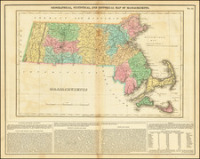 Massachusetts Map By Henry Charles Carey  &  Isaac Lea