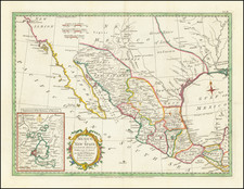 Texas, Southwest, Mexico and California Map By Strahan  &  Cadell