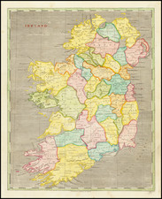 Ireland Map By Aaron Arrowsmith  &  Samuel Lewis