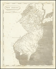 New Jersey Map By Aaron Arrowsmith  &  Lewis
