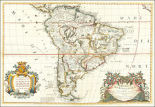 South America Map By Vincenzo Maria Coronelli