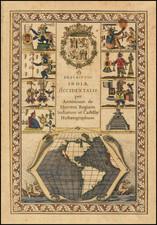 North America, South America, Title Pages, California as an Island and America Map By Antonio de Herrera y Tordesillas