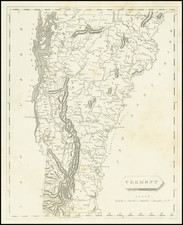 Vermont Map By Aaron Arrowsmith  &  Samuel Lewis