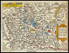Switzerland, France, Northern Italy, Sud et Alpes Française, Centre et Pays de la Loire and Nord et Nord-Est Map By Abraham Ortelius / Pietro Marchetti