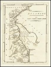 Delaware Map By Mathew Carey