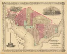 Washington, D.C. Map By Benjamin P Ward  &  Alvin Jewett Johnson